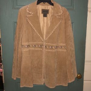 Brandon Thomas Buckskin Leather Coat Large Women